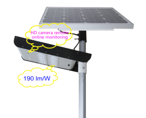 camera monitoring solar led street light